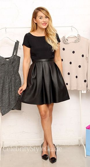 Seen on Celebrity Style Guide: Lauren Conrad wearing Paper Crown by Lauren Conrad Sutton Skirt to the A. Sweet Boutique Trunk Show September 26 2013