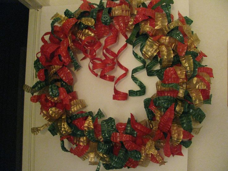 35 best plastic bottle wreaths images on pinterest for Christmas decorations from recycled plastic bottles
