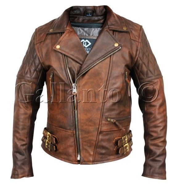 Due to high demand, we have turned this classic diamond into a rustic fashion/biker jacket. 100% Naked Cowhide leather. Pockets for CE approved removable armour. Quilted polyester lining. Removable zip out lining. | eBay!