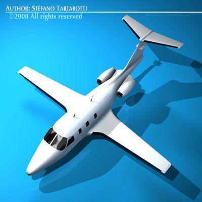 3D Model Eclipse jet c4d, obj, 3ds, fbx, ma, lwo 8660