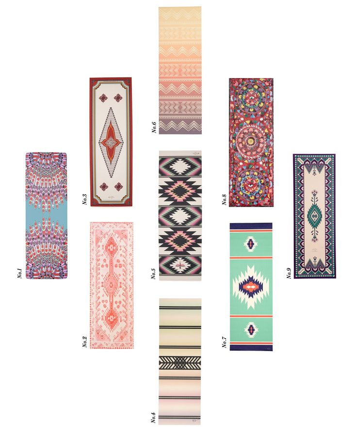 Any no-slip yoga mat with a pretty pattern/design/colors :)  Tribal trend printed yoga mats Erika Brechtel