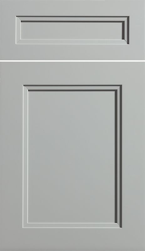 Dura Suprem Cabinetry Dalton Cabinet Door Style Shown In Paintable Wood With Zinc Gray