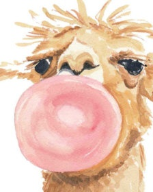 Prints Posters Etsy Art With Images Llama Painting Art Watercolor Print