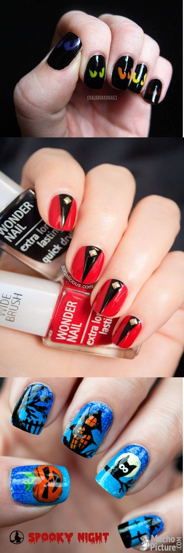 76 best Nägel images on Pinterest   Nail scissors, Halloween nail ...