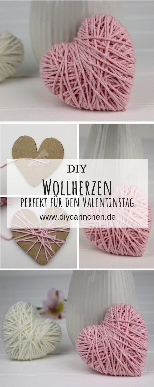 Diy Super Einfache Bastelidee Wollherzen Selber Machen Perfekte