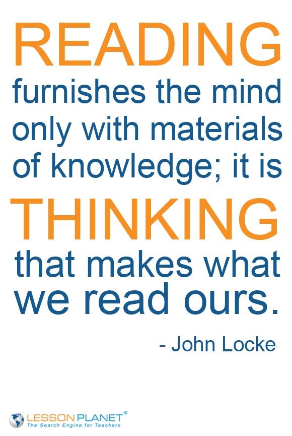 La diferencia entre #leer y #pensar.