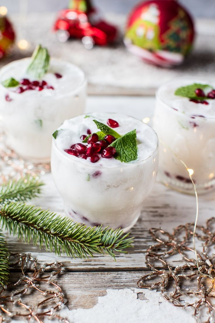 Winter wedding cocktail idea - white Christmas mojito {Courtesy of Half Baked Harvest}