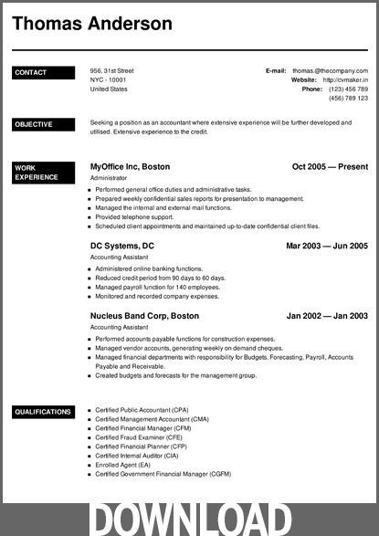 cv-maker-resume-03 | Resume Examples Office | Microsoft word resume ...