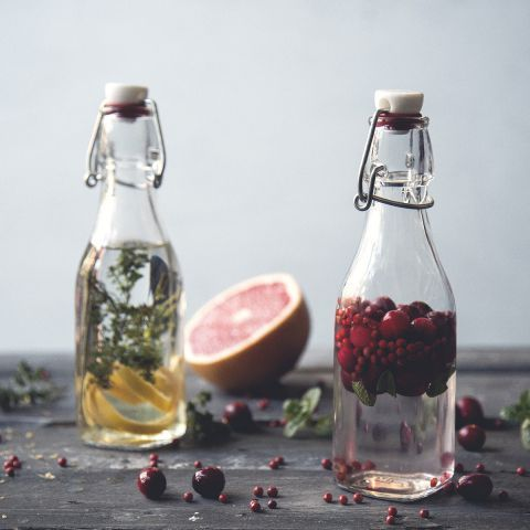 Not finished enjoying your fun in the sun? Try a super tasty and refreshing glass of grapefruit herb infused vodka!