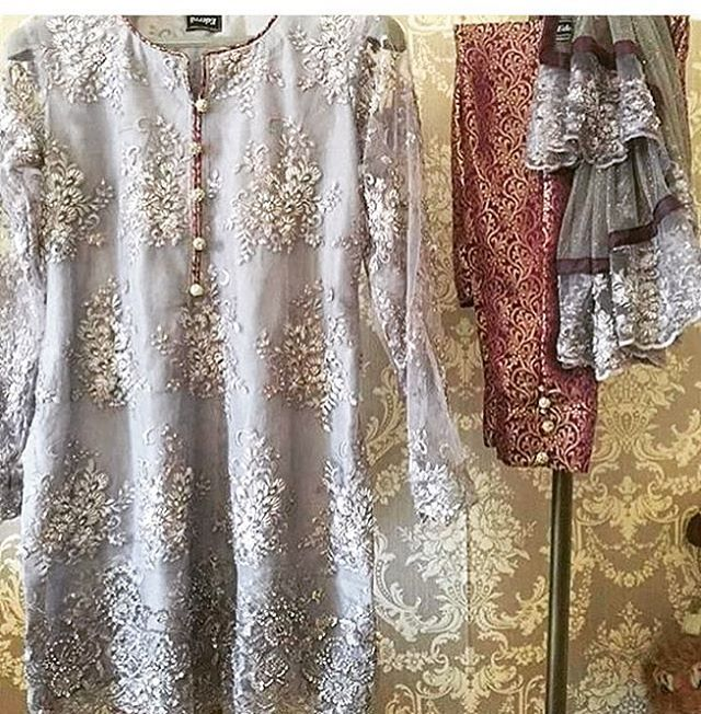 Beautiful neutrals that never go out of style ! we love to pair grays and beiges with golds and silvers or a hint of colour ! DM to order in any colour. #gray #gold #silver #net #embroidered #pakistanifashionweek #pakistaniwear #designerwear #desiwear #indianwear #indianfashion #shalwar #kameez #fashionpost #pakistaniweddings #pakistanistyle #pakistanistreetstyle #kurta #anarkali #saree #shirt #hamont #gta #hamilton