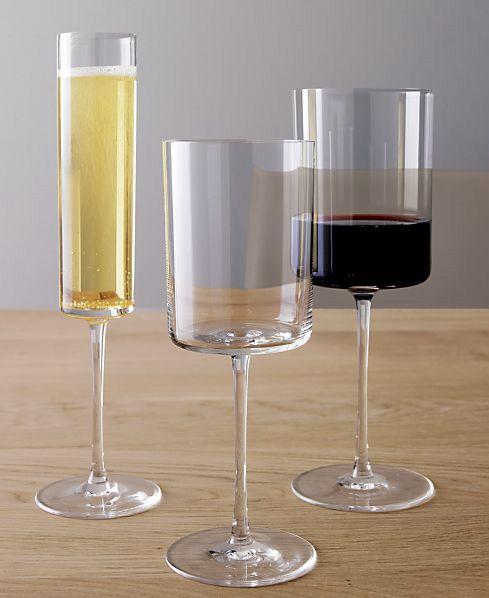 Edge Wine Glasses by Crate&Barrel