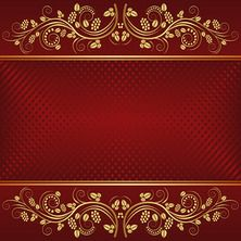 dark red background with golden ornaments