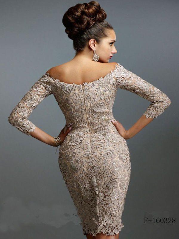 Mother of the Bride/Groom Dress Women Formal Occasion Free jacket Scoop Neck