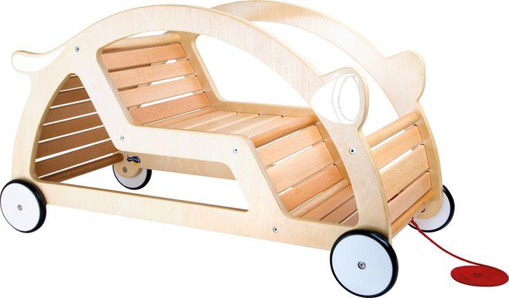 Samochód drewniany dla Dzieci Bujaczek 2w1