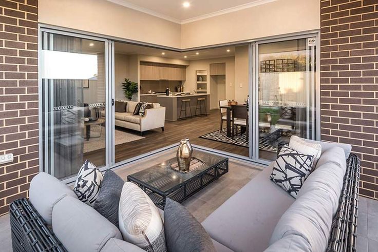 Enjoy warm summer nights and cosy winter afternoons in this lovely alfresco area. #weeksbuildinggroup #newhome #homedesign