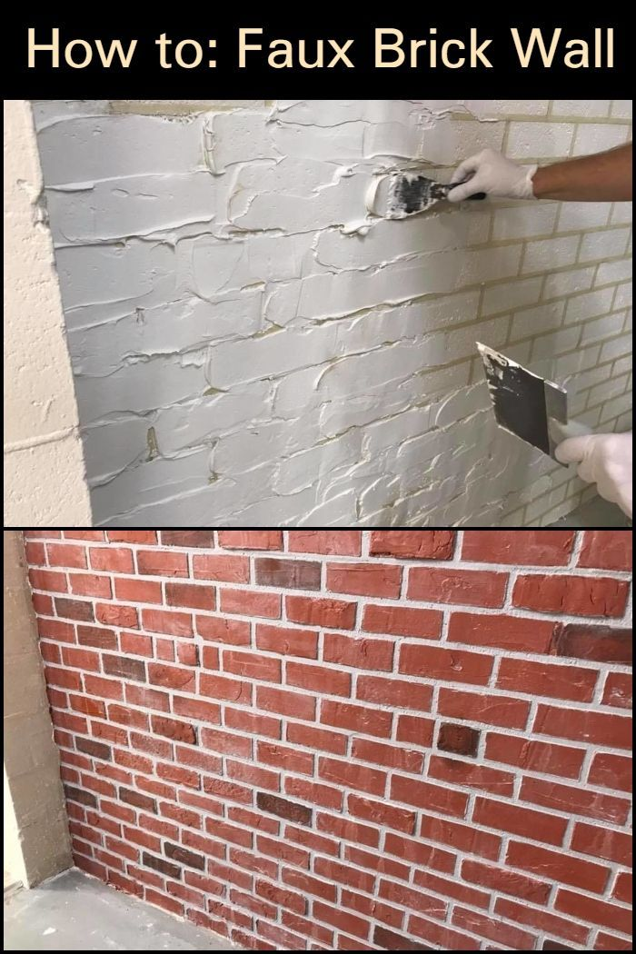 Give Your Walls A New Look With A Faux Brick Wall Diy Home Decor Faux Brick Walls Diy Faux Brick Wall Faux Brick