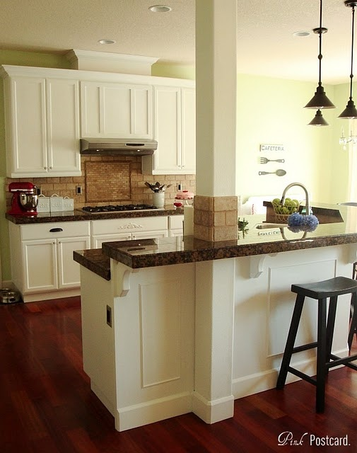 kitchen remodel: Counter Top, Kitchen Makeovers, Wood Kitchen Cabinets, Cabinets Updated, Kitchen Ideas, Kitchen Remodel, Woods, White Cabinets, White Kitchens