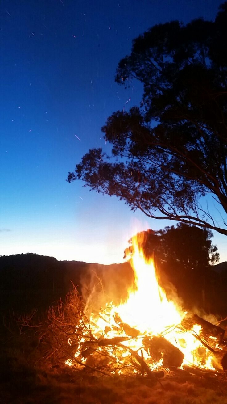 True Australian bonfires on a crisp winter evening