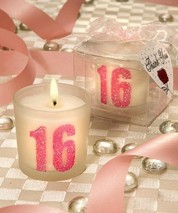 Sweet 16 candle table decorations