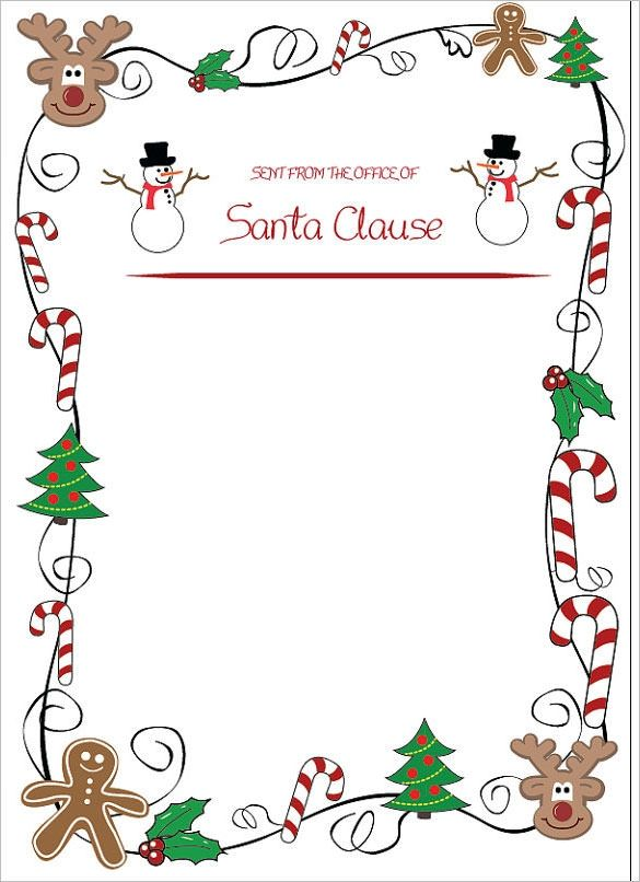 38+ Template for letter from santa claus ideas