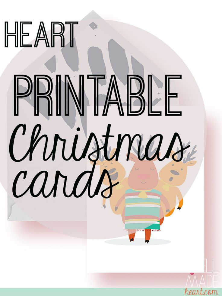Its officially Christmas time! Giddy-up on the season with these free printable Christmas Cards with a fun western theme!