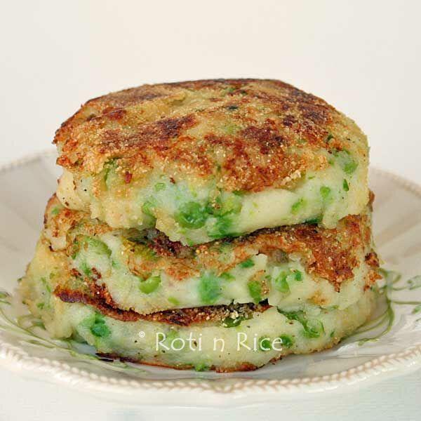 Green Peas Mashed Potato Pancakes