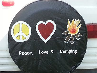 Peace Love Amp Glamping Maybe Custom Painted Spare Tire