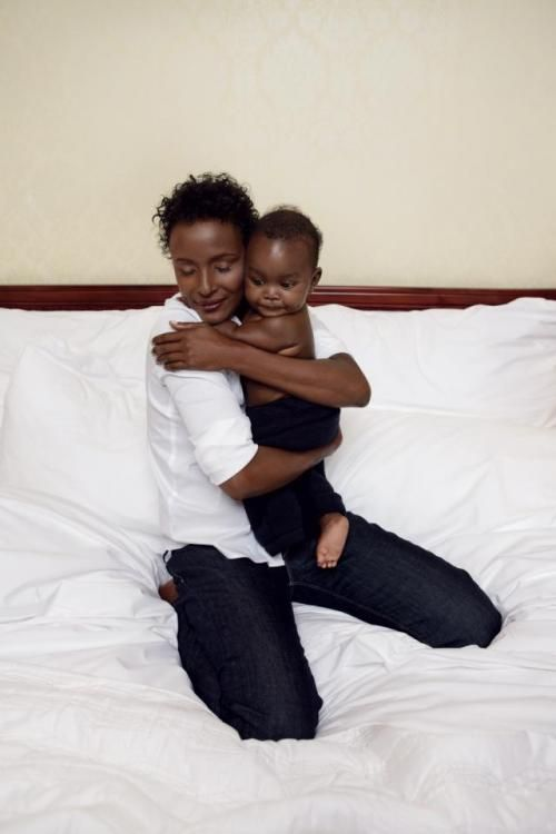 Waris Dirie and her son  ................................................ Waris Dirie is a Somali model, author, actress and human rights activist. At the age of thirteen, she fled her family in order to escape an arranged marriage to a much older man. In London, she became a supermodel. In 1997, Waris abandoned her modeling career to focus on her work against female circumcision. That same year, she was appointed UN Special Ambassador for the Elimination of Female Genital Mutilation.