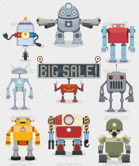 220 best Vectors images on Pinterest Font logo, Vector design and - new robot blueprint vector art