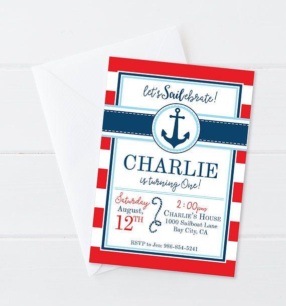 Nautical Boy Birthday Invitation