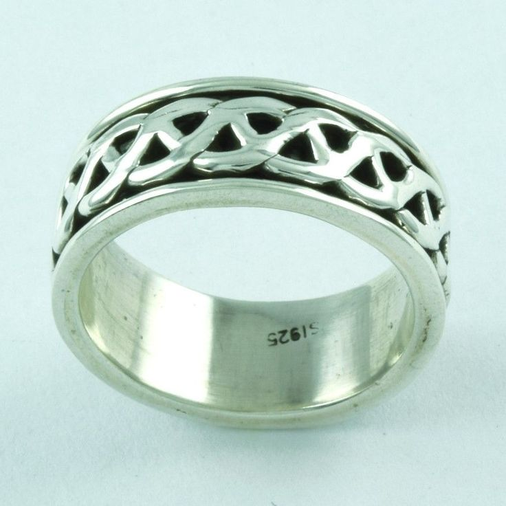 925 STERLING SILVER CELTIC SPINNER RING JEWELRY S.5.5 US R2093…