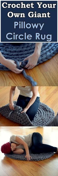 DIY Beautiful Giant Circular Rug