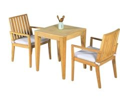 Elegance In-Outdoor Teak Dining Settings, 3pc