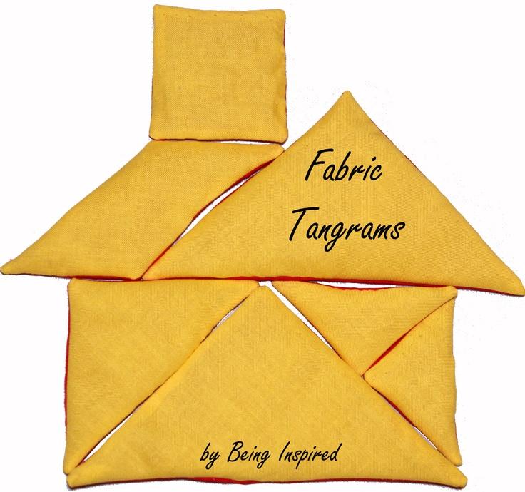 Fabric Tangram House - Free Template