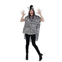 Zebra Kostüm Poncho