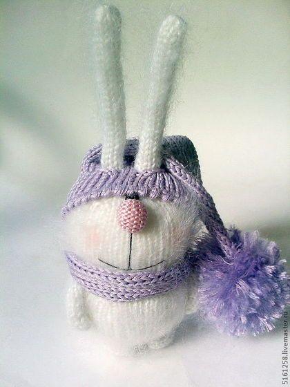 """Игрушки животные, ручной работы. Ярмарка Мастеров - ручная работа Вязаный зайчик """"пУшастик"""". (Вязаные игрушки зайцы ). Handmade."""