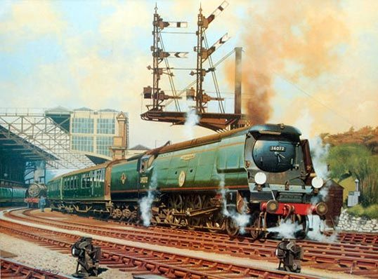 Fine Art Prints of Railway Scenes & Train Portraits - Clear For Take Off