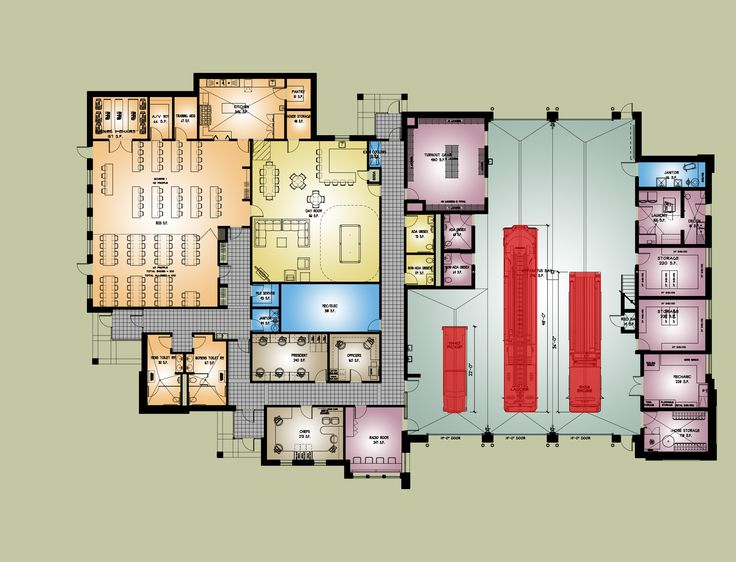 Midway Fire Station In Colonie Ny First Floor Plan
