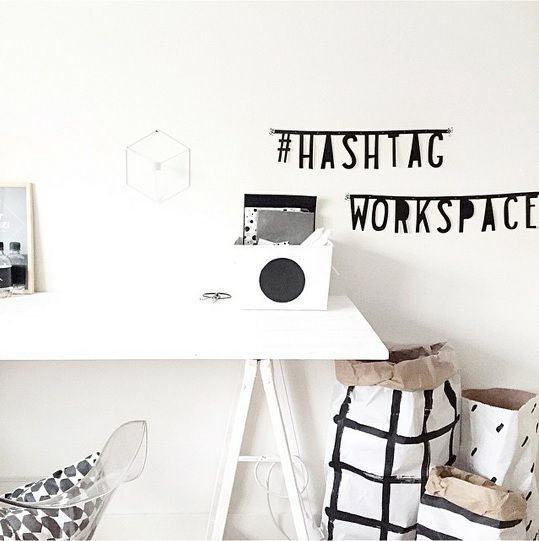 #Wordbanner #tip: #Hashtag #workspace - Buy it at www.vanmariel.nl - € 11,95
