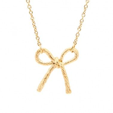Necklaces don't come any prettier than this! STRING BOW NECKLACE - 18ct yellow gold vermeil £155.