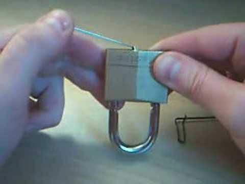 how to pick a padlock and how fabricate basic lock picking parts from commonly available with bobby pin10 pin