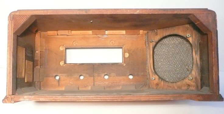 vintage SPARTON 6-26 RADIO part - Art Deco WOOD CASE & SPEAKER CLOTH | eBay