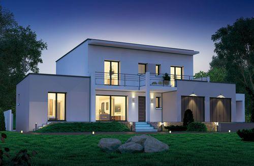Découvrez les plans de cette une maison connectée avec son temps sur www.construiresamaison.com >>>