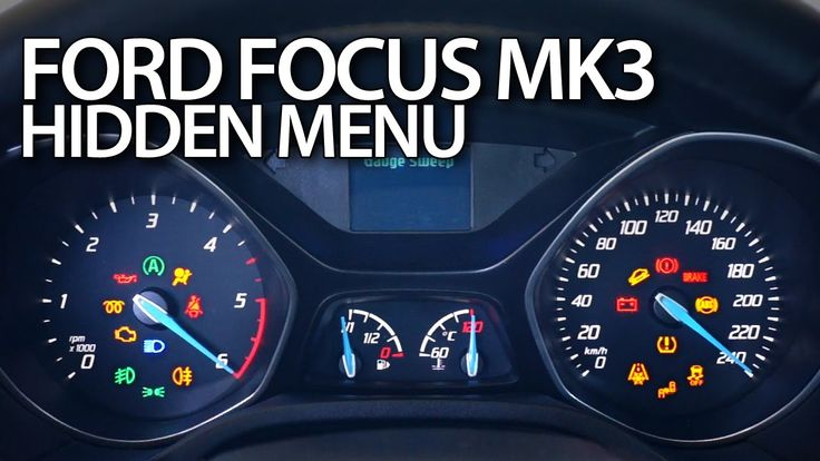 How to enter hidden menu in #Ford #Focus #MK3 #diagnostic #test mode instrument cluster #cars