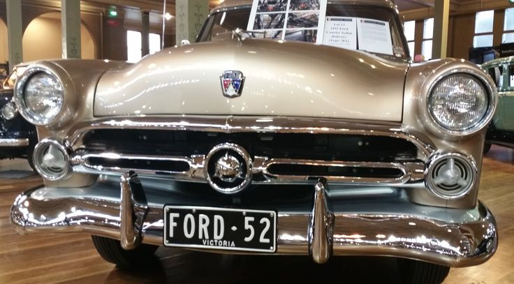 Custom plate FORD.52 on display at the 2014 Motorclassica.