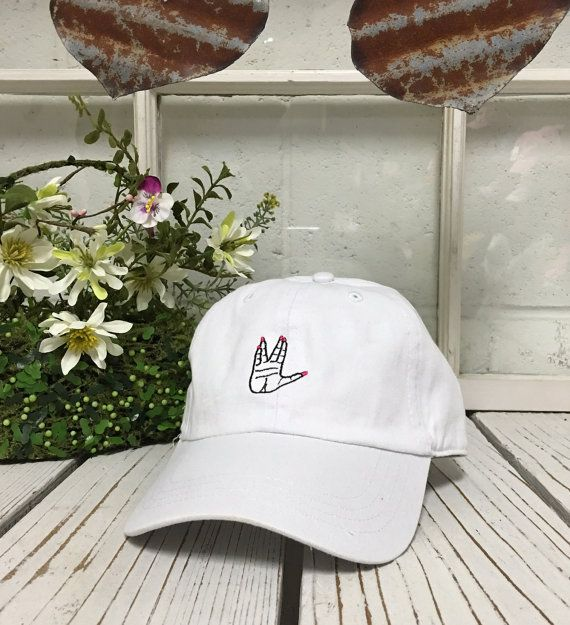 ALIENS WELCOME HAND Baseball Hat Curved Bill by PrfctoLifestyle