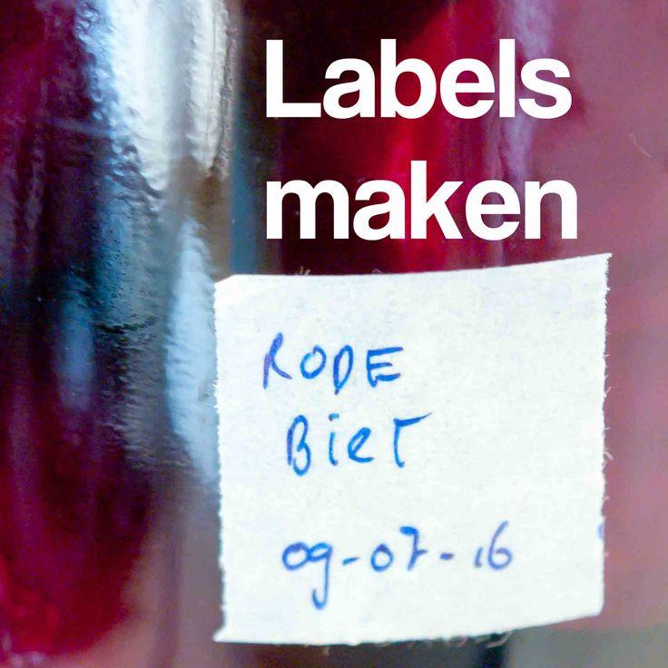 labels maken diy jam weckpot Dit en nog veel meer op moestuinblog De Boon in de Tuin | http://deboon.blogspot.nl