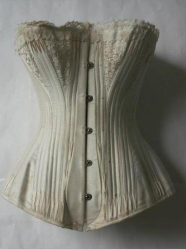 666565351c Bridal Corset  The Celebrated C.B. Bridal Corset  Maker  l toile C.B Date   1890 FRANCE   Silk