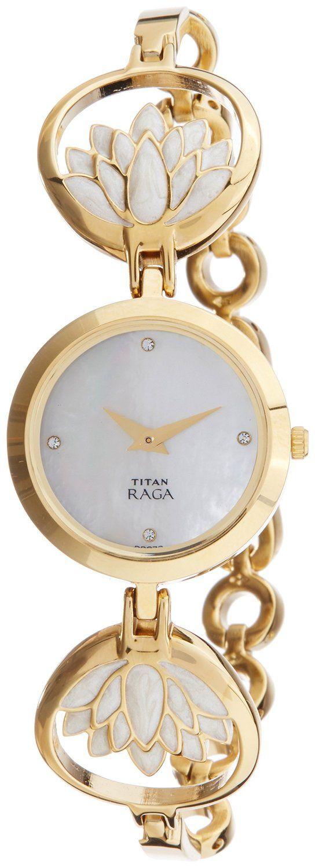 Titan Raga Analog Mother of Pearl Dial Women's Watch- 2540YM01 #Titan #Raga #Analog #Mother #of #Pearl #Dial #Women's #Watch #2540YM01 Price: INR 5,995.00 -------------------------------------- Sale: INR 4,495.00  --------------------------------------