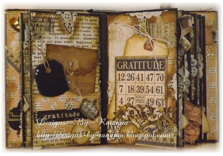 Mini Album Using Teresa Collins Vintage Finds - Scrapbook.com